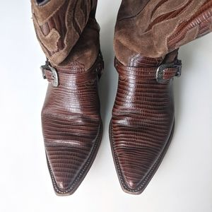 Vintage Sancho Cowboy Motorcycle style boots